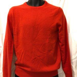 J Crew Orange 100% Italian Cashmere Sweater